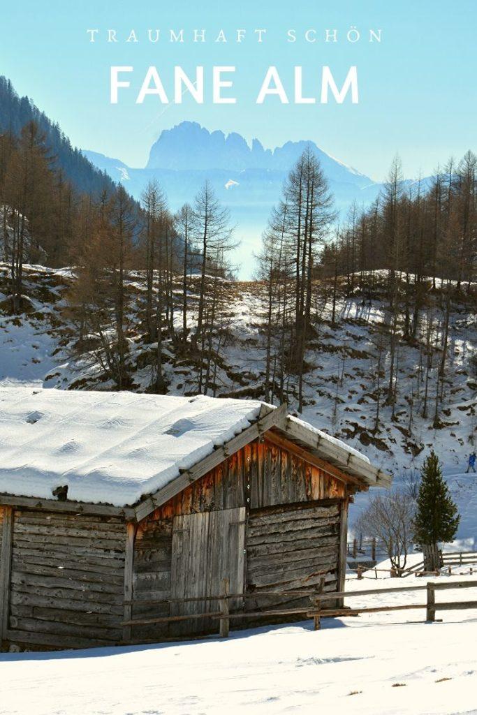 Fane Alm im Winter - merk dir einen Pin auf Pinterest für deinen nächsten Urlaub
